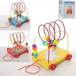 Каталка Лабиринт  на проволоке деревянная игрушка MD 2168