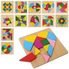 Деревянная игрушка Геометрика Мозаика MD 2173