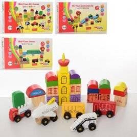 Деревянная игрушка Городок+транспорт MD 2176 в коробке