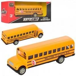 Автобус  металлический инерционный резиновые колеса AS-2196 АвтоМир