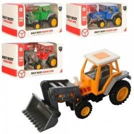 Трактор металлический инерционный стройтехника 222-3A