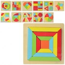 Геометрика деревянная фигуры и цифры 2271