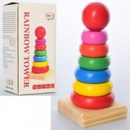 Деревянная игрушка Пирамидка 6 колец MD 2272