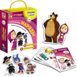 """Игра с липучками """"Такие разные наряды"""" Маша и Медведь VT2305-05"""