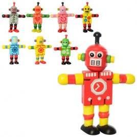 Деревянный дергунчик робот 2325