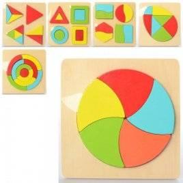 Геометрика деревянная игрушка  пазлы MD 2326-1