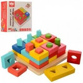 Геометрика деревянная игрушка  фигуры MD 2345