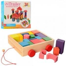 Городок деревянная игрушка  ящик-каталка MD 2346