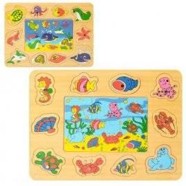 Игрушка Рыбалка на магните с пазлами Морские жители 2349