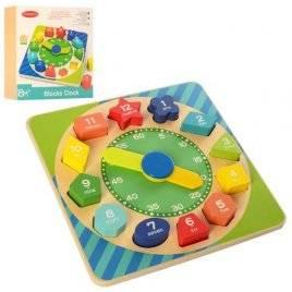 Деревянная игрушка Часы-сортер цифры 2362