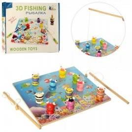 Рыбалка деревянная магнитная 3D в коробке MD 2408