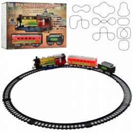 Железная дорога с дымом и светом 241