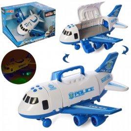 Гараж-самолет с корпусом-контейнером с музыкой и светом 660-A242-243