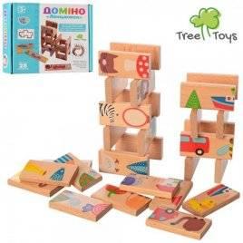 Домино деревянное детское 28 деталей MD 2421