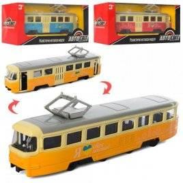 Трамвай металлический инерционный AS-2436 АвтоМир