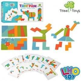 Деревянная игрушка Фигуры Танграм с карточками MD 2447