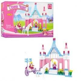 Конструктор для девочек Замок с каретой 24502 Aisuni