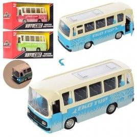 Автобус металлический инерционный со звуком и светом AS-2465 АвтоМир