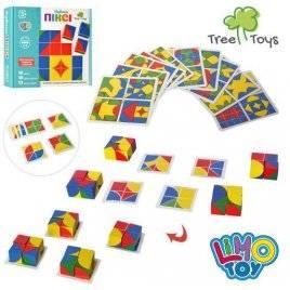 Деревянная игрушка Фигуры кубики Пикси с карточками MD 2466