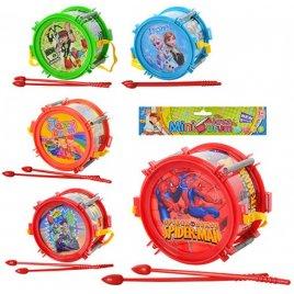 Барабан игрушечный сказочный герой 2483