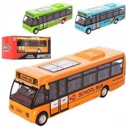 Автобус металлический инерционный со звуком и светом  AS-2484 АвтоМир