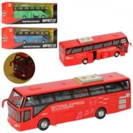 Автобус металлический инерционный со звуком и светом AS-2492 АвтоМир