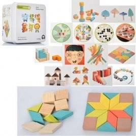 Деревянная игрушка Фигурки в металлической коробке MD 2496