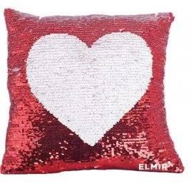 Подушка детская сувенирная в пайетках Сердце 24971