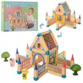 Городок деревянная игрушка 128 деталей 2425 в коробке