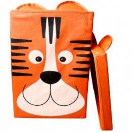 Ящик детский корзина для игрушек тигр  с крышкой 25*25*38 Укроселя