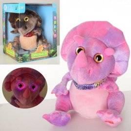 Мягкая игрушка Динозавр повторюшка со светом двигает головой MP 2591
