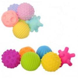 Пищалки для купания текстурные Мячики рефленые 6 штук KM261-261A