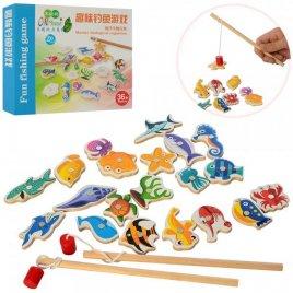 Рыбалка деревянная магнитная Морские животные MD 2610