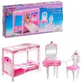 Мебель для кукол Спальная с балдахином 2614 Gloria