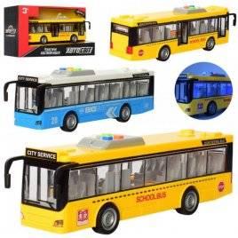 Автобус со звуком и светом открываются двери AS-2617 АвтоМир