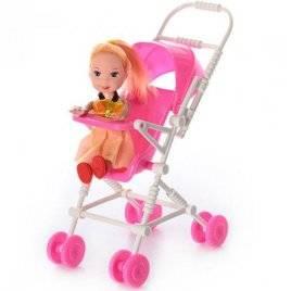 Кукла маленькая с коляской 262-18
