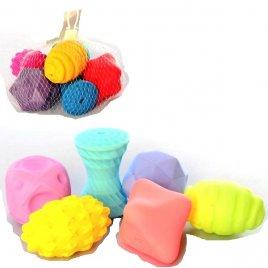 Пищалки для купания текстурные Мячики рефленые 6 штук KM262-262A