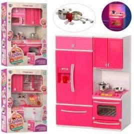 Кухня для кукол со звуком и светом+посуда и продукты QF26212-3-4PW