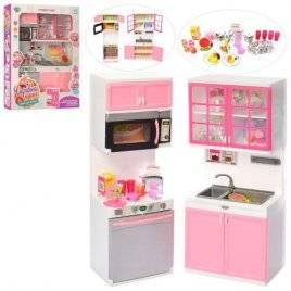 Кухня для кукол со звуком и светом+посуда QF26216P