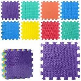 Коврик мат напольный Теплый пол мягкий вспененный текстурный 9 деталей M 2630