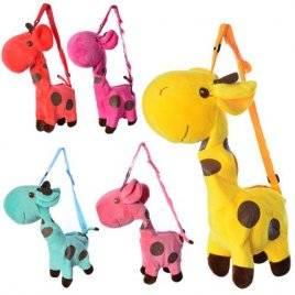 Сумка-рюкзак с длинной ручкой Жираф 2670 красная большая