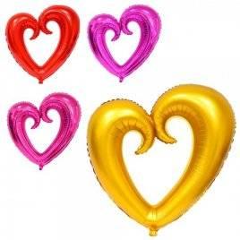 Шарики надувные фольгированные Сердце MK 2739