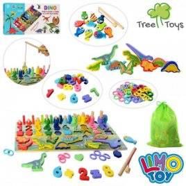 Деревянная игрушка Рыбалка +цифры и динозавры MD 2758