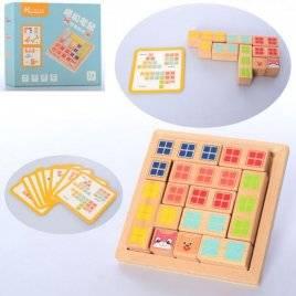 Деревянная игрушка Танграм  карточки+фигурки MD 2773