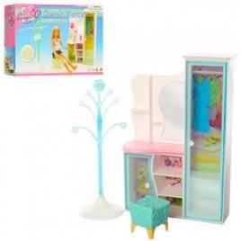 Мебель для кукол Шкаф + туалетный столик 2809 Gloria