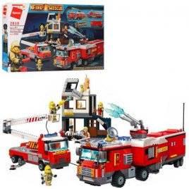 Конструктор Пожарная бригада + фигурки 996 деталей 2810 Qman