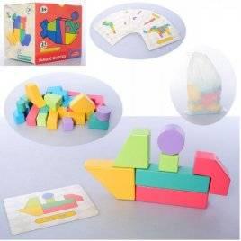 Игра деревянная с фигурками и карточками 21 предмет MD 2837