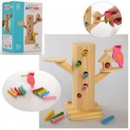 Игра деревянная магнитная Пенёк MD 2850