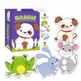 Пазлы-Коровка или Собачка для самых маленьких VT2901-05/2901-06 Vladi Toys в коробке
