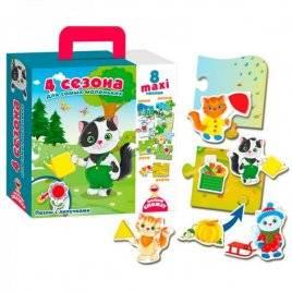 Пазлы с липучками Maxi 4 сезона VT2907-02 Vladi Toys